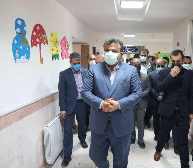 افتتاح مدرسه ۶ کلاسه برکت شهدای سیمرغ با حضور استاندار مازندران و مدیران استانی و شهرستانی